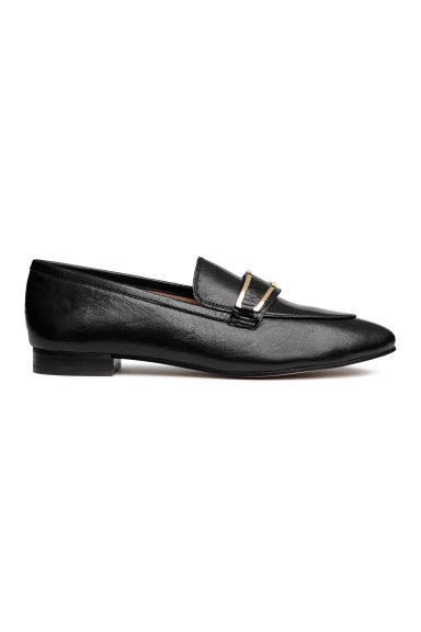 Leather loafers - Black - Ladies | H&M CN
